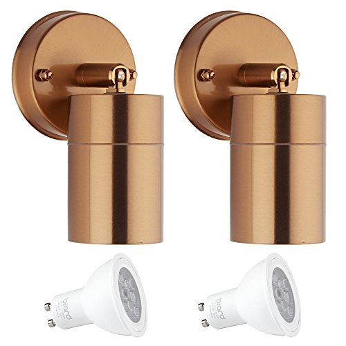 Adjustable Spotlight Wall Fixture Copper Finish